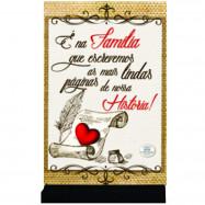 Placa Cartão MDF Família