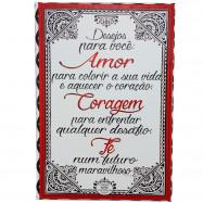 Caixa Cartão Quebra-Cabeça Amor, Coragem e Fé