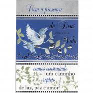 """Cartão """"Com a presença de Deus em nossa vida.."""""""