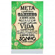 Placa Cartão MDF Meta