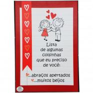 Caixa Cartão Quebra-Cabeça Love You