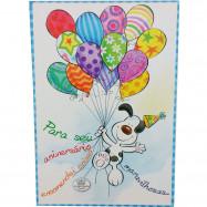 Caixa Cartão Quebra-Cabeça Parabéns