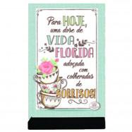 Placa Cartão MDF Vida Florida