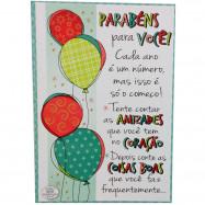 Caixa Cartão Quebra-Cabeça Felicidades