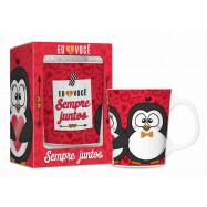 Caneca Porcelana Premium - SEMPRE JUNTOS PINGUIM