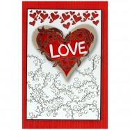 """Cartão """"Love, Amo a sua presença"""""""