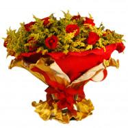 Buquê 2 duz de rosas vermelhas nacionais no Italiano