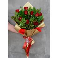 Buquê Amor Perfeito    (12 Rosas)
