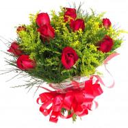 Buquê tradicional de Rosas Vermelhas