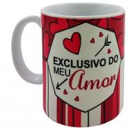 """Caneca """"Exclusivo do meu amor"""""""