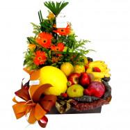 Cesta Flores e Frutas Executiva