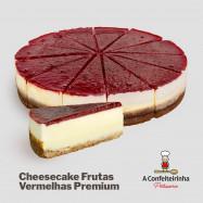 Torta De Cheesecake de Frutas Vermelhas - FATIA