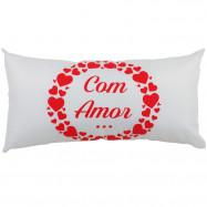 """Almofada G """"Com Amor"""" Branca"""