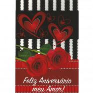"""Cartão """"Feliz Aniversário Meu Amor!"""""""