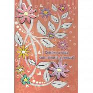 """Cartão """"Celebre a Vida com Alegria e Leveza!"""""""