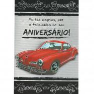 """Cartão """" Muitas Alegrias, Paz e Felicidades no Seu Aniversário!"""""""