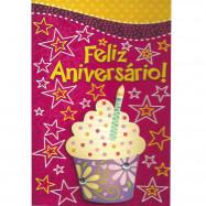 """Cartão """"Feliz Aniversário Bolinho!"""""""