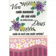 """Cartão """"Viva cada momento da sua vida..."""""""
