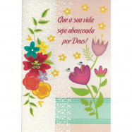 """Cartão """"Que sua vida seja abençoada por Deus!"""""""
