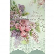 """Cartão """"Mãe você é uma pessoa maravilhosa..."""""""