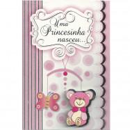 Cartão decorado com mensagem de Bebê