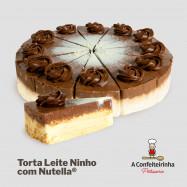 Torta de Leite Ninho com Nutella - FATIA