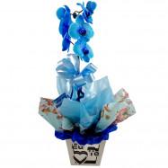 Orquídea Azul no MDF