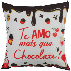 Almofada Te Amo Mais Que Chocolate G