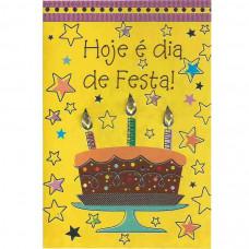 """Cartão """"Hoje é Dia de Festa!"""""""