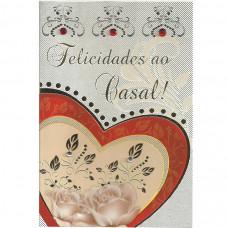 """Cartão """"Felicidades ao Casal!"""""""