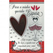 """Cartão """"Para minha querida Esposa!"""""""
