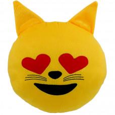 Almofada Emoji Gatinho Apaixonado G