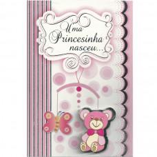 """Cartão """"Uma Princesinha nasceu..."""""""