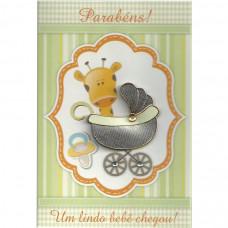"""Cartão """"Parabéns! Um lindo bebê chegou!"""""""
