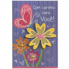 """Cartão """"Com Carinho para Você!"""""""