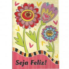 """Cartão """"Seja Feliz!"""""""