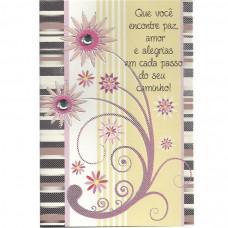 """Cartão """"Que Você encontre paz, amor e alegria em cada passo do seu caminho!"""""""
