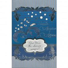 """Cartão """"Saúde, Alegrias, Amor. Que Deus lhe Abençoe Sempre!"""""""