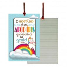 Cartão Tag Sorriso Arco-íris
