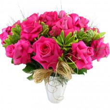 Buquê de Colombianas Pink no Vaso