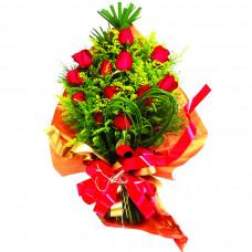 Buquê Europeu Rosas Vermelhas